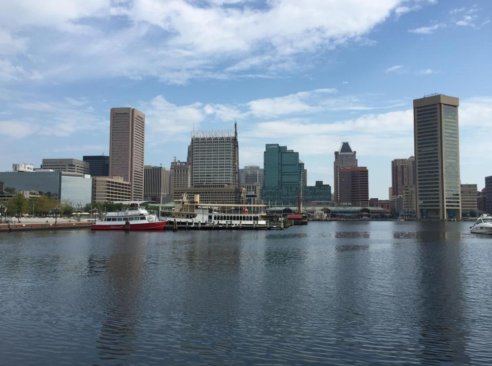 Downtown Baltimore Skyline, River