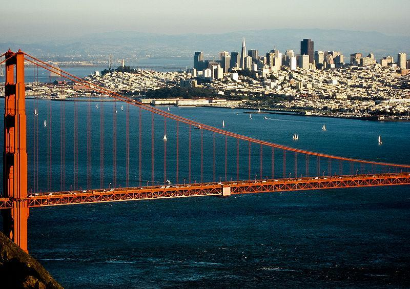 Downtown San Francisco, Golden Gate Bridge