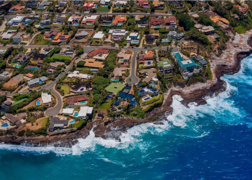Hawaii, neighborhood on the beach