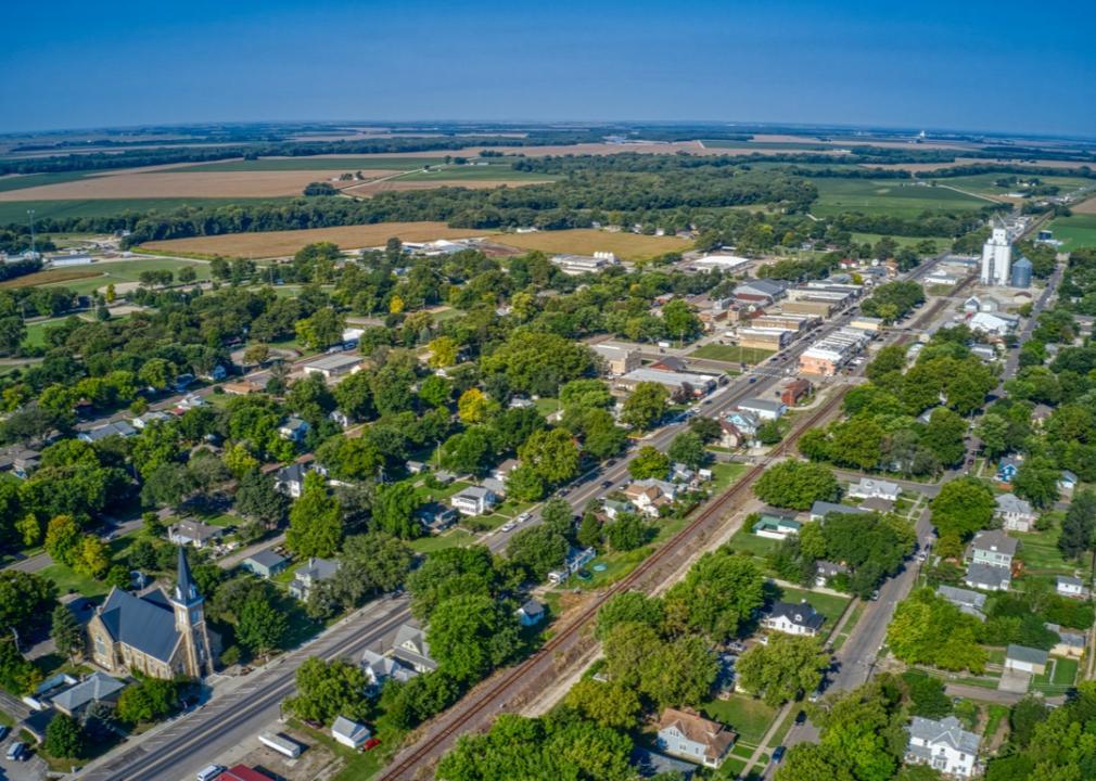 Kansas, verdant small town