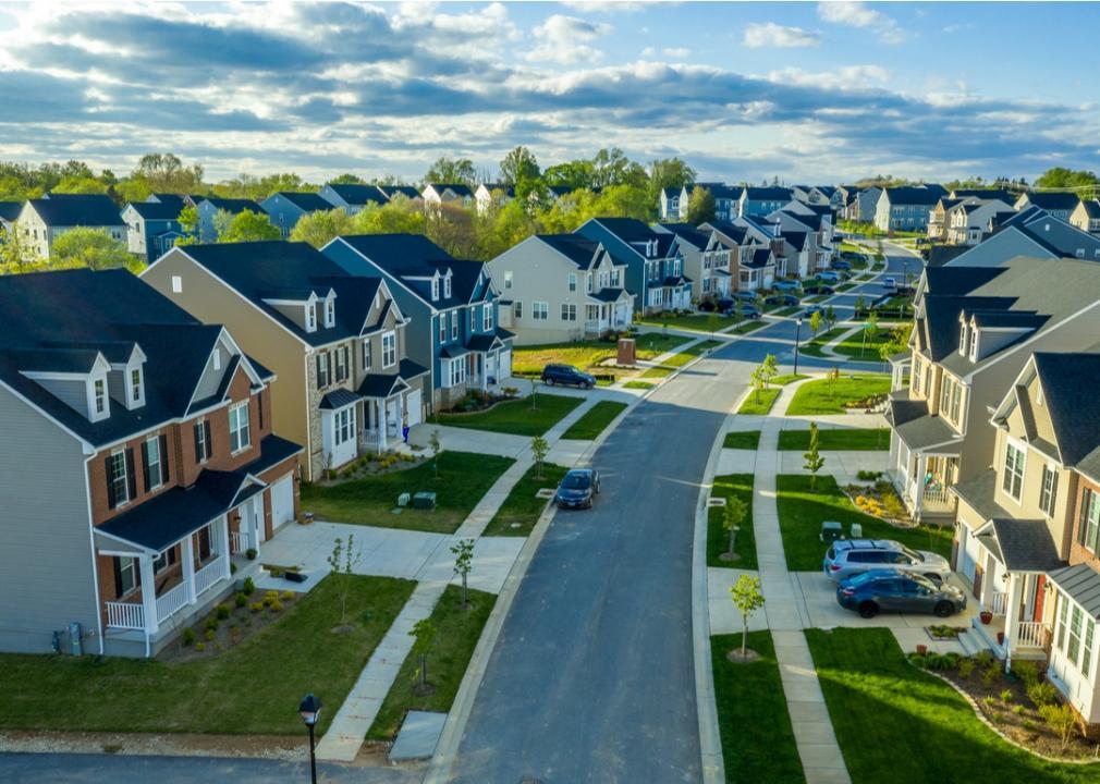 Maryland, row of suburban homes
