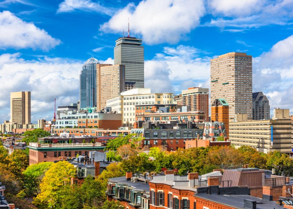 Massachusetts, downtown skyline