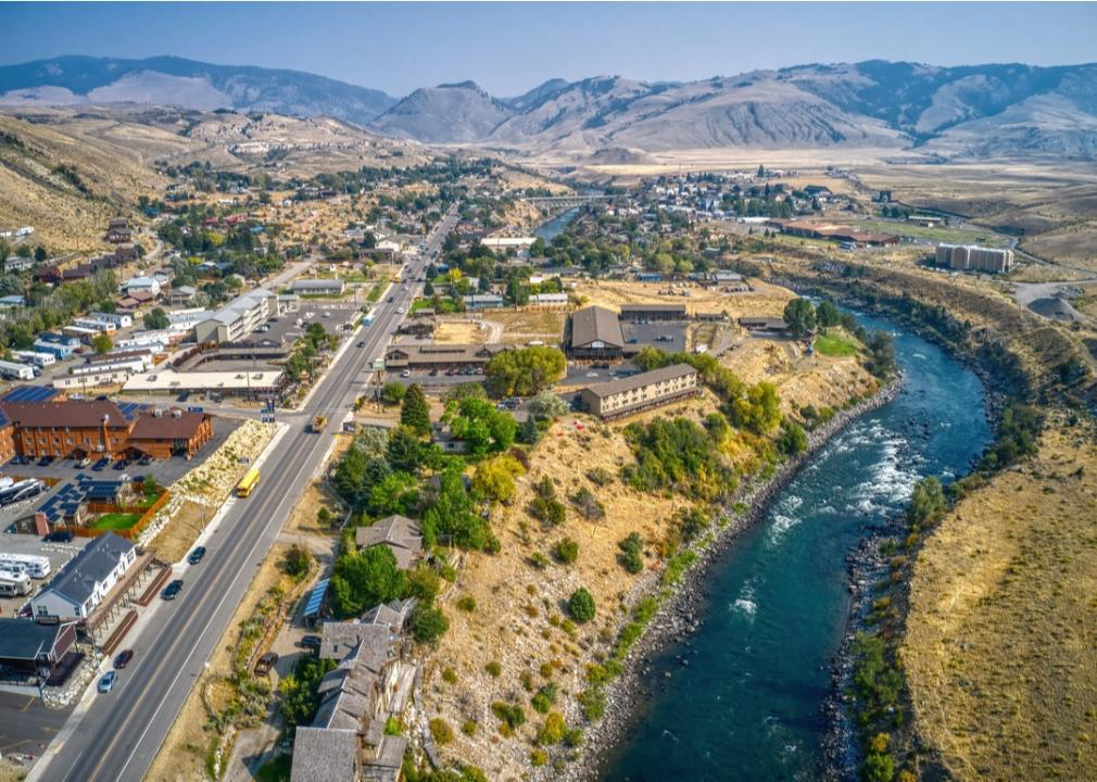 Montana, small town on a river