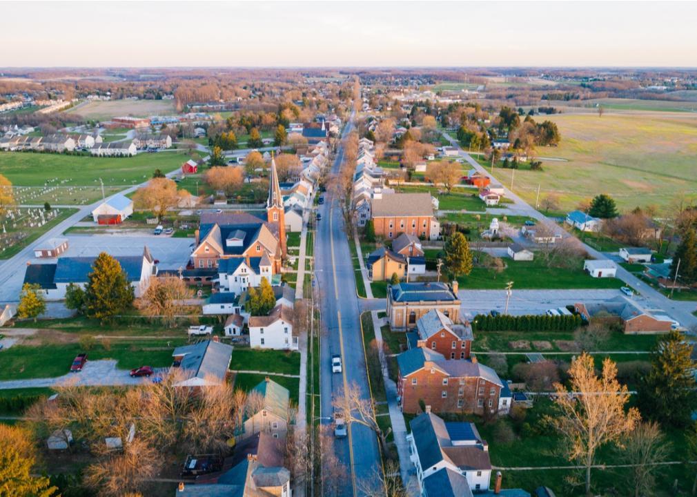 Pennsylvania, main street in a small town