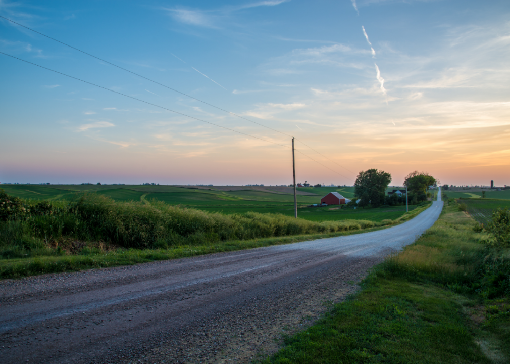 Photo of empty roadway