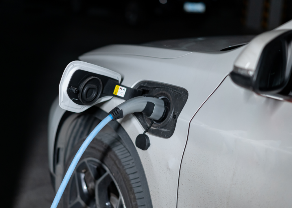 Photo of EV charger plugged in