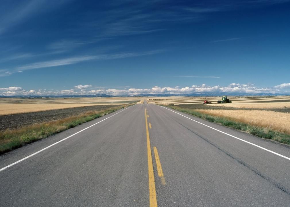 Photo of empty highway