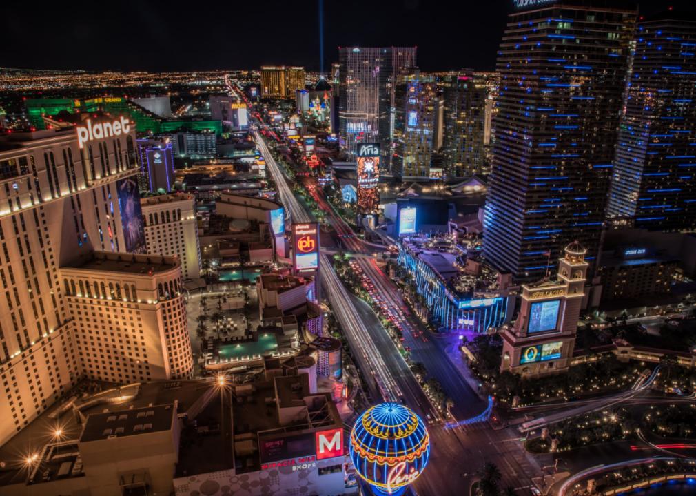 Photo of Vegas skyline at night
