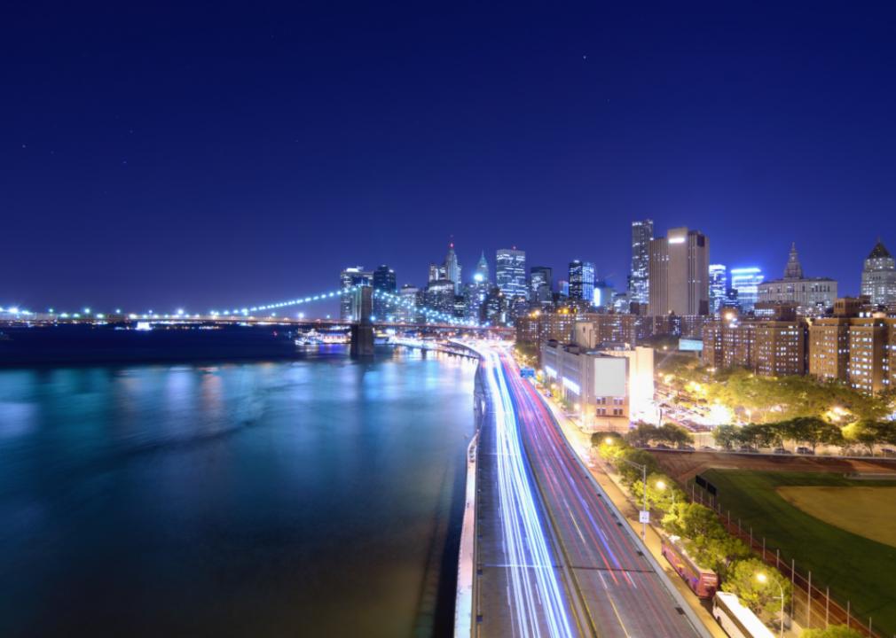Photo of New York waterline