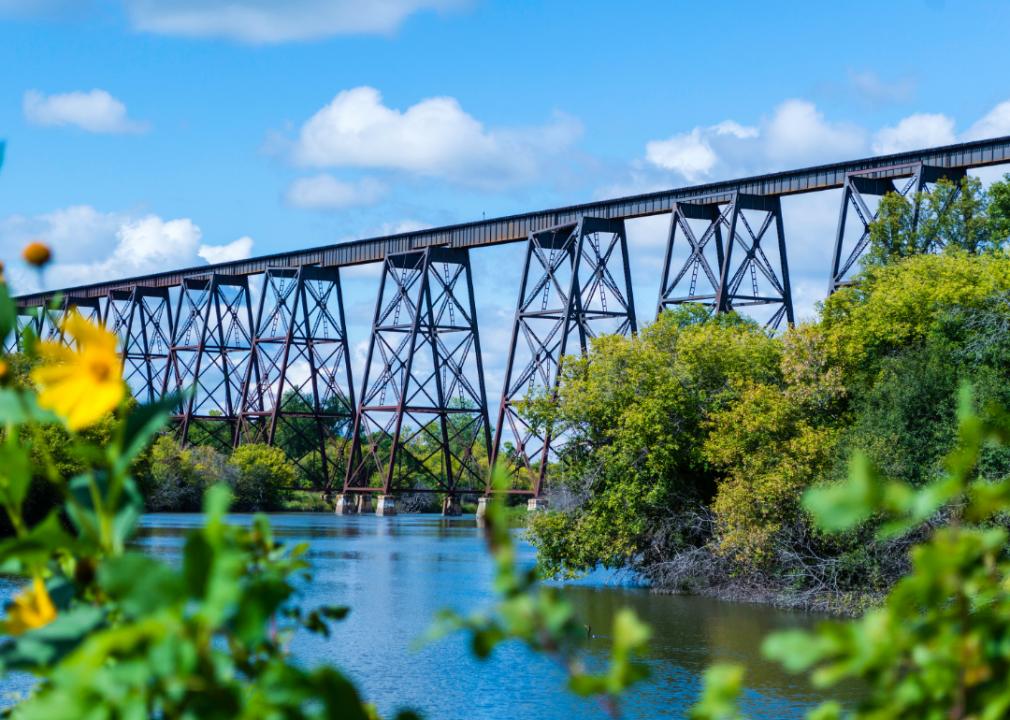 Photo of railway bridge over river