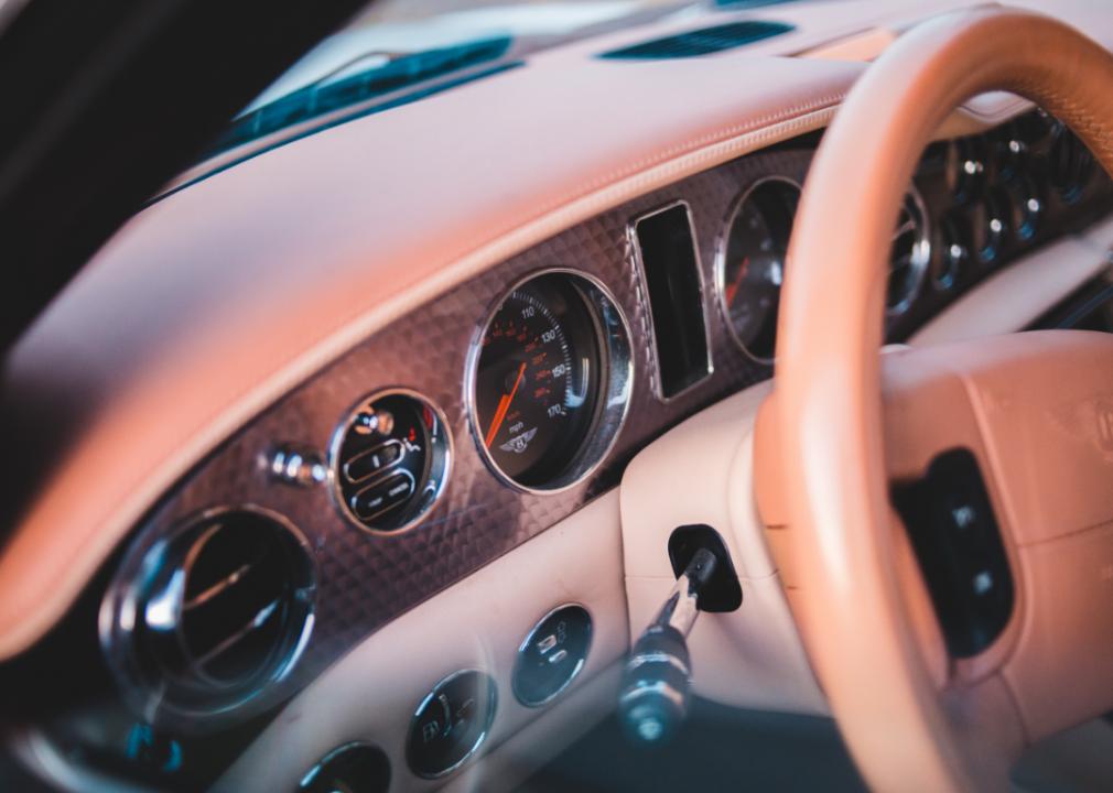Photo of car interior dash