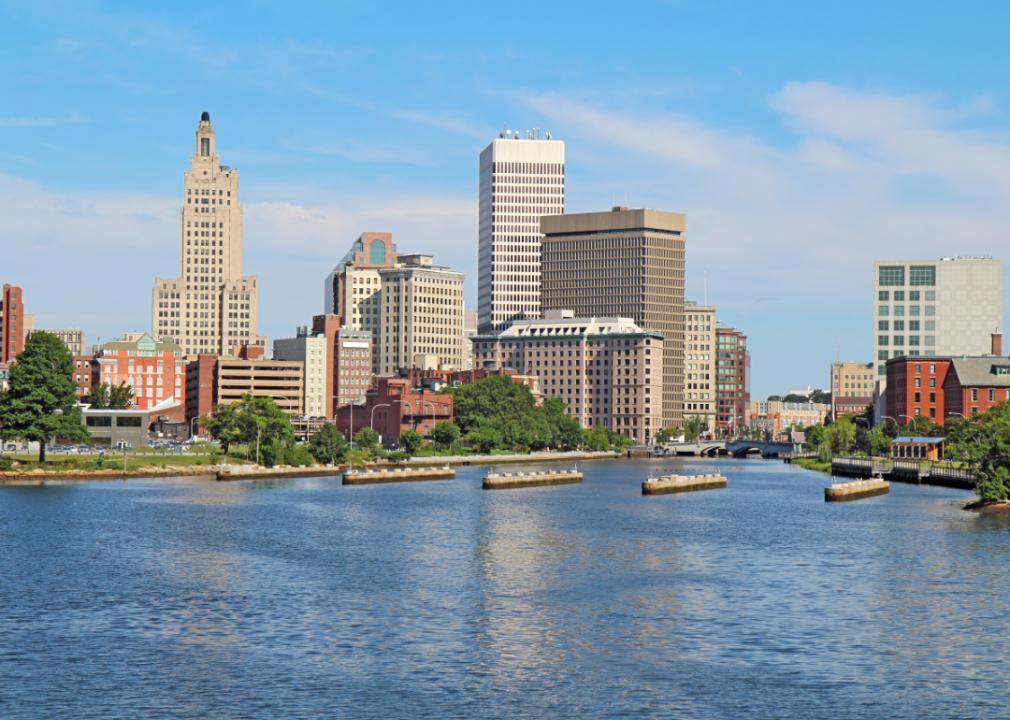 Photo of city skyline