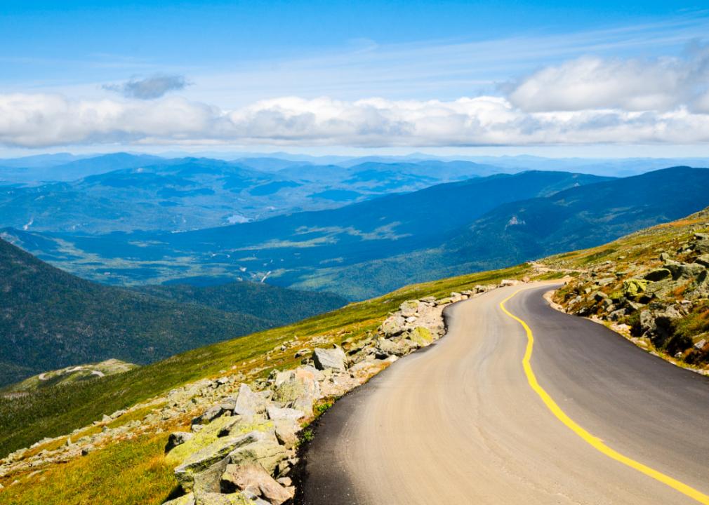Photo of mountain roadway