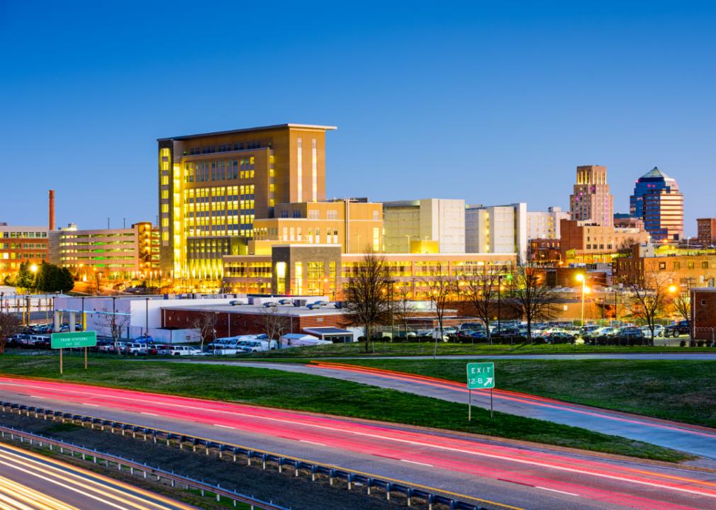Urban skyline of Durham, North Carolina