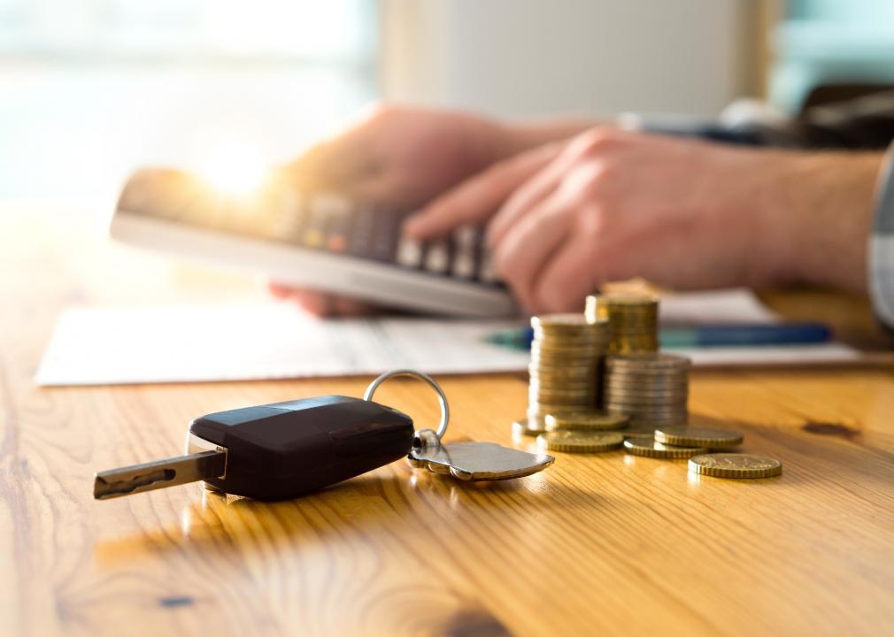 Photo of car keys on a table