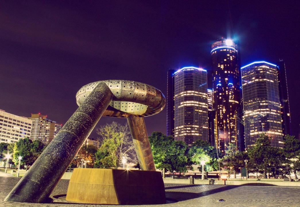 Downtown Detroit Skyline, modern architecture
