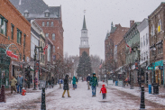50 coldest cities in America on Christmas