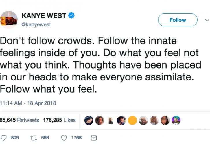 Top 50 Kanye West tweets since he