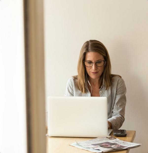 Woman on laptop